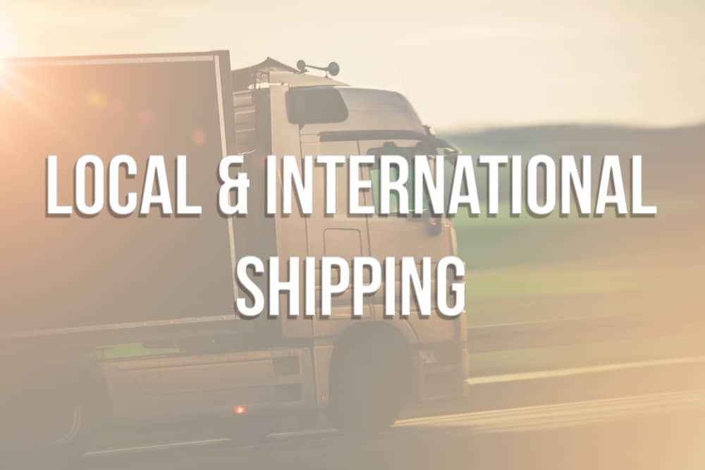 Local and International Shipping
