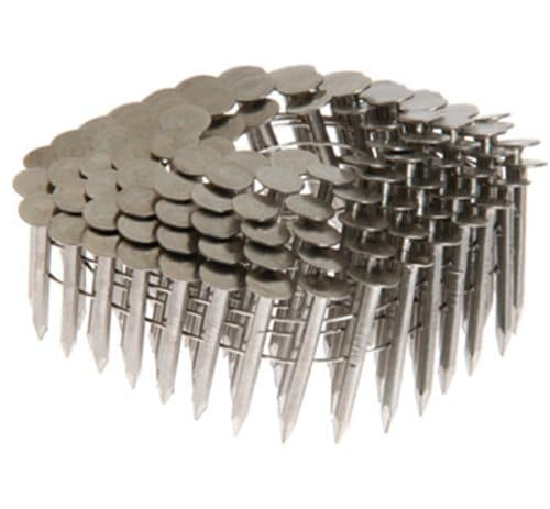 "1 1/4"" X .120 SS 304 COIL ROOFING NAILS - 15 DEGREE"