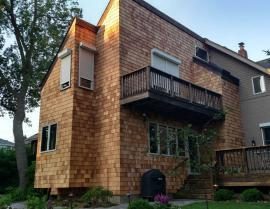 western red cedar siding shingles - Clear Stain After 2 1 270x209