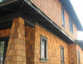 western red cedar siding shingles - Clear Stain RR Sanded 270x209
