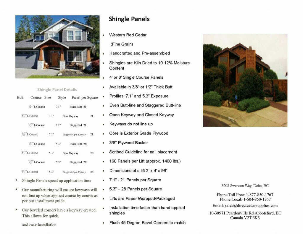 Shingle Panels Brochure