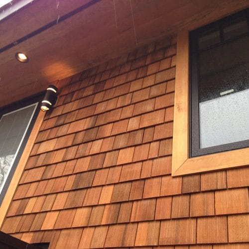 sidewall shingle - Machine Grooved WRC With Clear Stain 500x500