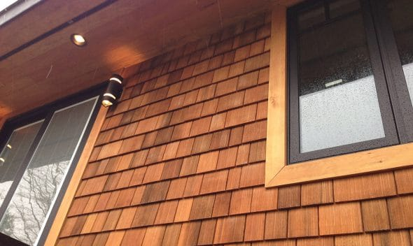 wood shingles - Machine Grooved WRC With Clear Stain 590x352