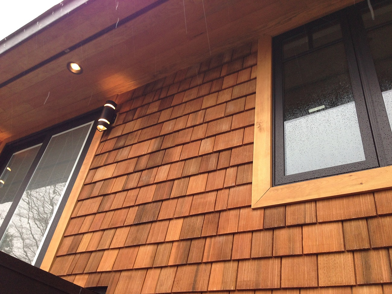 wood shingles - Machine Grooved WRC With Clear Stain