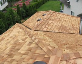 western red cedar - Red Cedar Tapersawn Shake Roof 270x209
