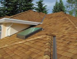 western red cedar - Tapersawn Shake Roof 6 270x209