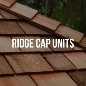 cedar shingle - 365668c7 ridge cap units