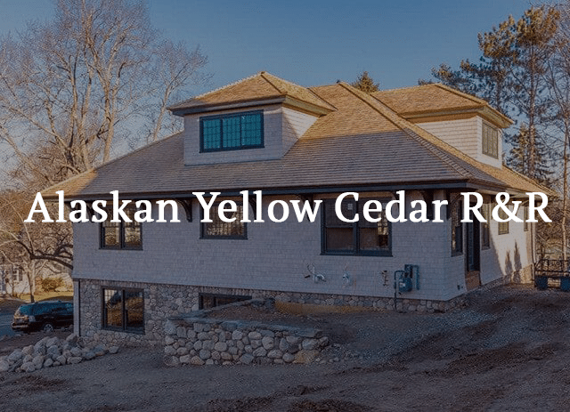Alaskan Yellow Cedar Siding Shingles